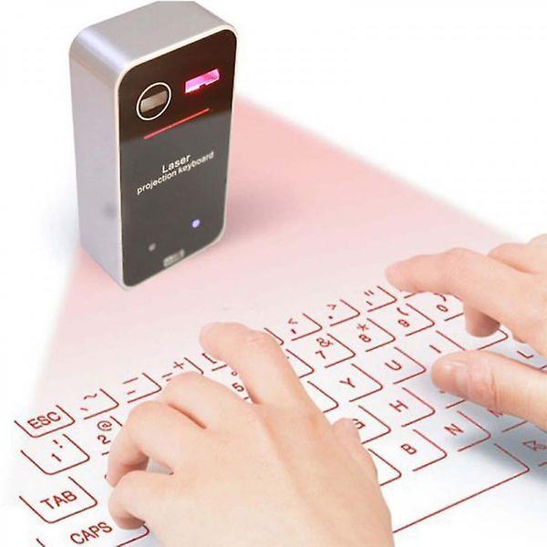 Trådløst laser tastatur svart