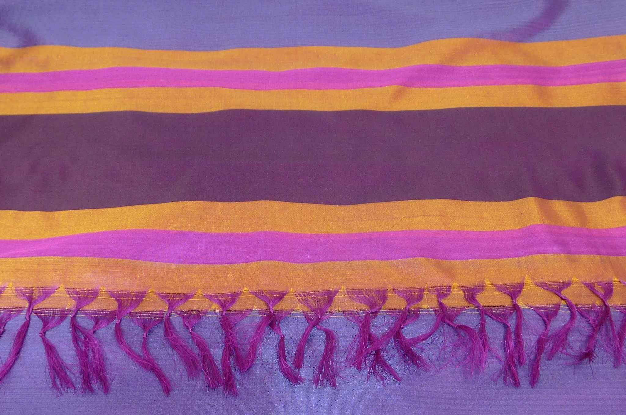 Varanasi Border Prime Silk Long Scarf Heritage Sandeep 315 by Pashmina & Silk