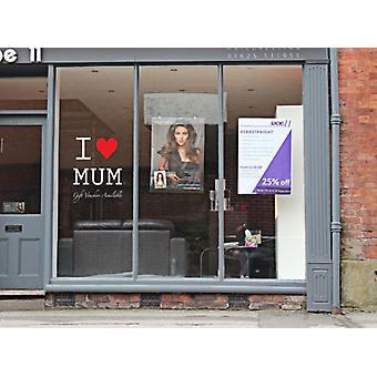 Dzień matki miłość naklejki sklep Mama okna ściany