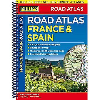 De Philippe France et Atlas routier Espagne: spirale (Philips Road Atlas)