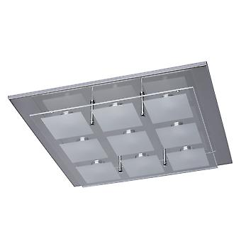 Glasberg - Chrome negen licht LED Flush montage 678010609