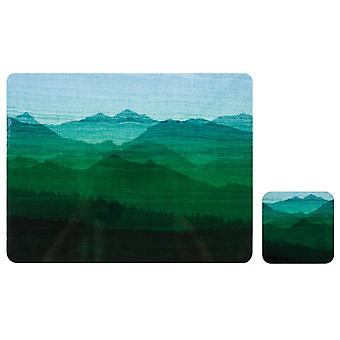 Ladelle Mountain Vista Placemats & Coasters, Set of 4