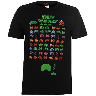 Character Mens Space Invaders T Shirt