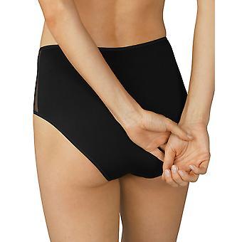 Mey 79049-003 Women's Serie Fabulous Black Lace Full Panty Highwaist Brief