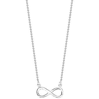 Bella Plain Infinity Necklace - Silver