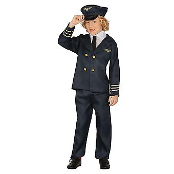 Boys Pilot Aviator Occupations Fancy Dress Costume