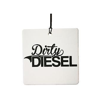 Vuile Diesel auto luchtverfrisser