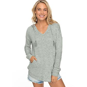 Roxy Womens Cozy Chill Pullover Hoodie - Olive Heather