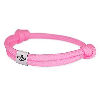 Skipper Armband Charm Knot Maritieme Armband Roestvrij Staal Roze 7857