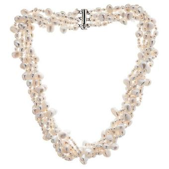 Pearls of the Orient 6 Strand Cultured Freshwater Pearl Necklace - White