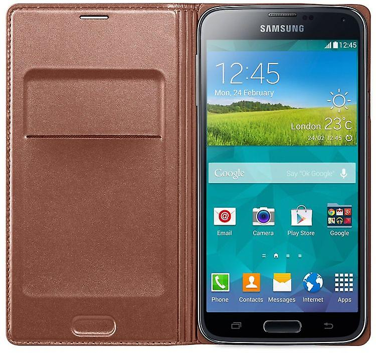 Samsung EF-WG900BFEG Flip Wallet Case for Galaxy S5 in Rose Gold