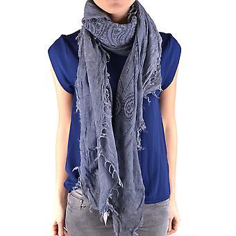Etiqueta Negra Ezbc183002 Women's Blue Wool Scarf