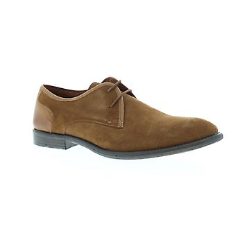 Robert Wayne TF Giona  Mens Brown Suede Casual Lace Up Oxfords Shoes