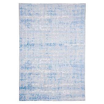 Modern carpet weaving carpet short flor indoor abstract light blue 120 x 180 cm stain protection cotton mixture
