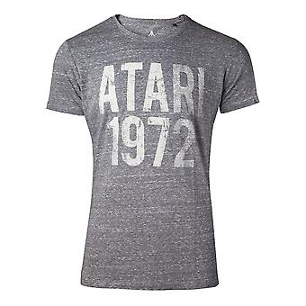 Atari T-shirt 1972 Vintage heren klein grijs (TS743750ATA-S)