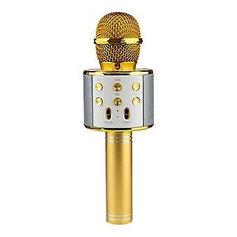 KTV-trådløs karaoke mikrofon-gull