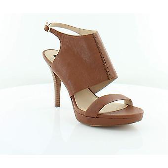 DKNY Damen Bren zehenoffenen lässige Ankle Strap Ledersandalen