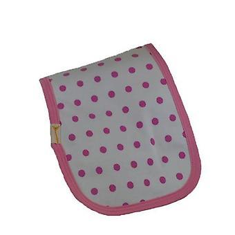 Pink spotty burp cloth