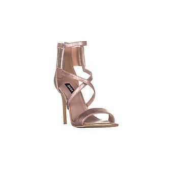 DKNY Womens Lil Strappy Open Toe ocasião especial sandálias de tiras