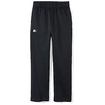 Starter Boys' Open-Bottom Sweatpants with Pockets,  Exclusive, Black, M...