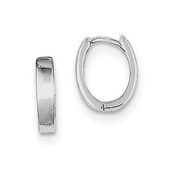 925 Sterling Silver Rhodium verguld Rhodium gepolijst scharnierende hoop oorbellen sieraden geschenken voor vrouwen