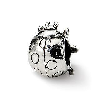 925 Sterling sølv antikk finish refleksjoner ladybug perle sjarm