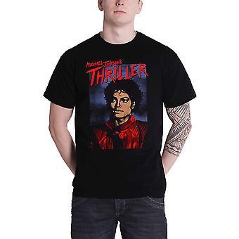 Michael Jackson T Shirt Thriller Pose Logo new Official Mens Black