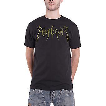 Emperor T Shirt Classic Metallic Gold Band Logo Official Mens New Black
