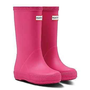 Hunter Kids eerste peuter Classic Boots-helder roze