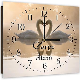 Decorative Clock With Picture, Carpe Diem 2