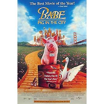 Babe: Schwein in der Stadt (Video) Original Video/Dvd Ad Poster