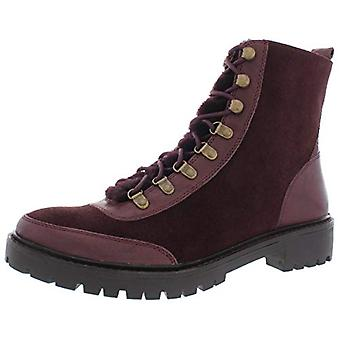 Lucky Brand Womens Ilianna Leather Wool Combat Boots Purple 11 Medium (B,M)