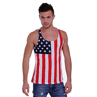 Men's USA Flag Tank Top American Pride