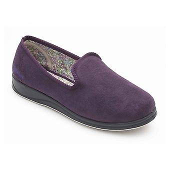 Padders Repose naisten microsuede Extra leveä (2E) Tossut violetti