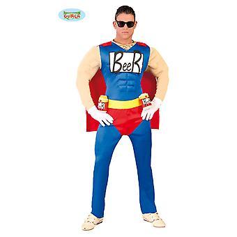 Mens de super-herói Beerman Biermann cerveja traje do Sr.