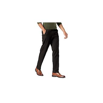 Dockers Men's Slim Tapered Fit Workday Khaki, Black (Stretch), Size 31W x 30L