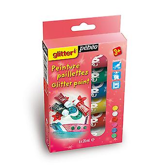Pebeo Glitter Paint Discovery Set 6 x 20ml