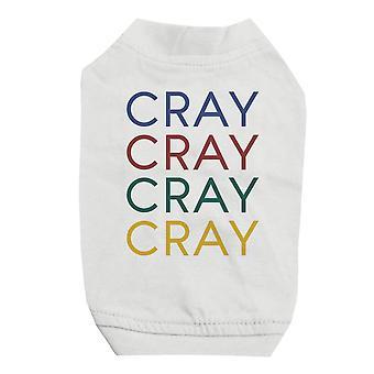 365 Druck Cary weiß Haustier Shirt für kleine Hunde süße Grafik Hund T-Shirt Geschenk