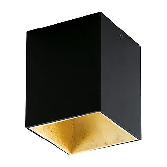 Eglo Polasso Surface Mount Ceiling Downlight In Black And Gold