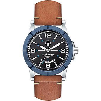 Horloge Trendy Classic Avenger CB1036-02D - klassieke lederen man
