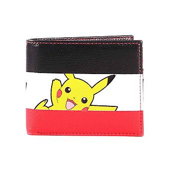 Pokemon portemonnee Pikachu gestreepte logo nieuwe officiële Nintendo Bifold