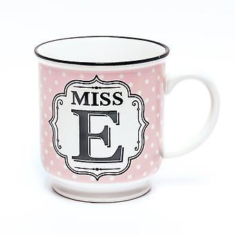 Historia & Heraldry aakkoset muki-Miss E