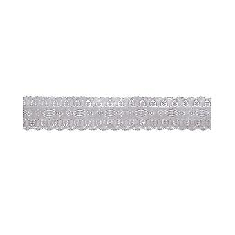Culpitt Silver Coloured Embossed Cake Band - 25mm X 50m - Simple