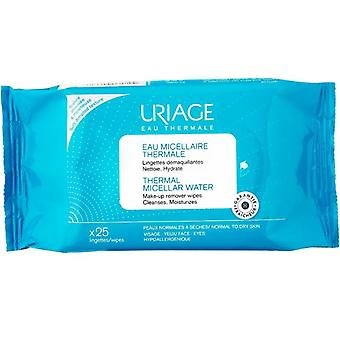 Uriage Thermal Micellar Water Wipes for Normal to Dry Skin