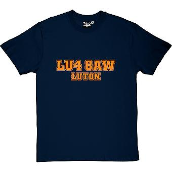 Luton Town Postleitzahl Navy Blue Men's T-Shirt