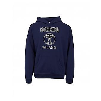 Moschino Textured Milano Logo Hoody