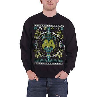 Fragen Alexandria Weihnachten Pullover Sweatshirt Xmas Lights offiziellen Mens Black