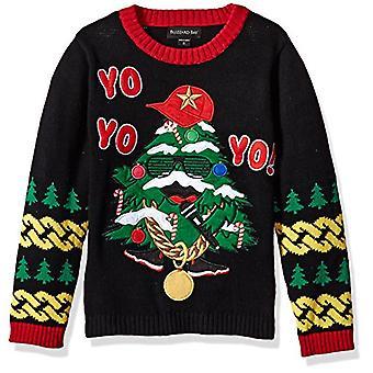 Blizzard Bay Boys Ugly Chrismas Sweater Santa, Black Combo, 14-16 L