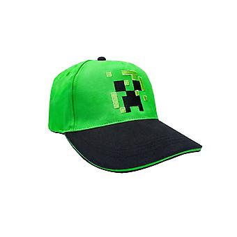Minecraft Creeper Face Boys/Youth Snapback Baseball Cap