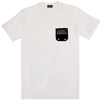 Diesel Diego Pocket T-Shirt - Blanc/Noir